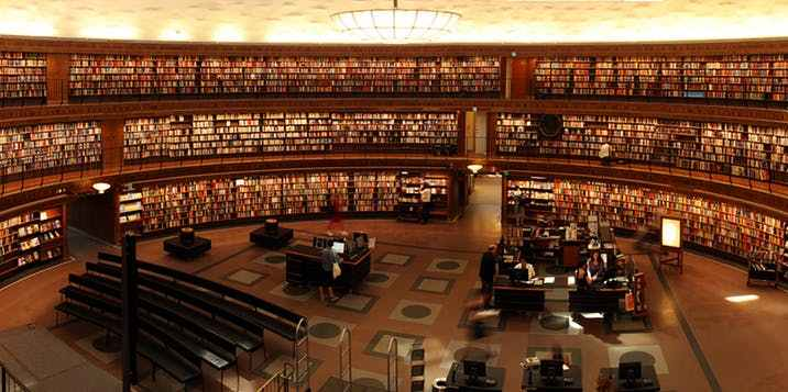 super wide library photo