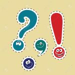 set of funny smiley punctuation