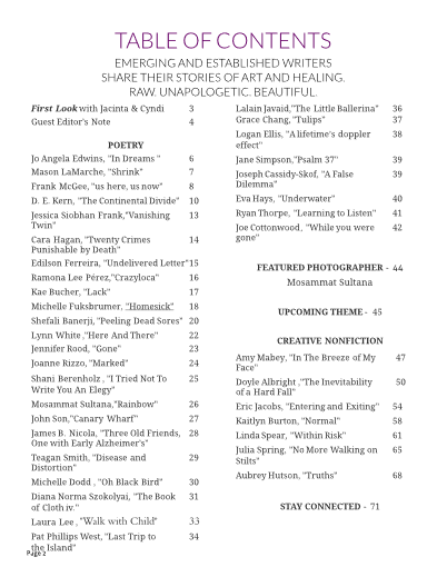 table of contents snapdragon september 2018
